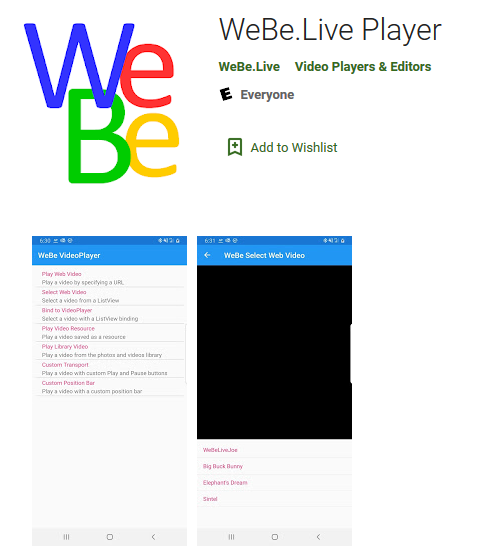 Android users install WeBe Live App from Google Play Store